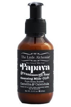 Papaya, Geranium and lime cleansing milk The Little Alchemist natural skin care