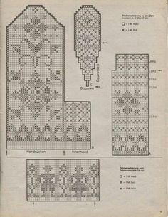 Knitted Mittens Pattern, Knit Mittens, Knitted Gloves, Knitting Socks, Filet Crochet Charts, Knitting Charts, Knitting Stitches, Knitting Patterns Free, Tapestry Crochet