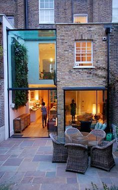 Very good two-storey rear terrace extension with double height space.london Very good two-storey rear terrace extension with double height space. Extension Designs, Glass Extension, House Extension Design, Rear Extension, Extension Google, Extension Ideas, Side Return Extension, Architecture Extension, Interior Architecture