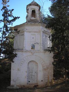 Primera estación del Via Crucis del Calvario de Híjar. Antes de su restauración. Siglo XVIII.