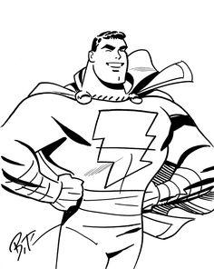 Bruce Timm - Captain Marvel, in DavidChavoya's Captain Marvel/Shazam Book 1 Comic Art Gallery Room - 1105059
