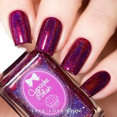 Cupcake Polish Blood Hound is a rich boysenberry linear holographic polish. This nail polish is handcrafted and designed by Sara, creator of Cupcake Polish. Mad