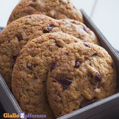 Peanut Butter Chocolate Chip Cookies - New ideas Chocolate Chip Cookies, Cookies Light, Bon Dessert, Biscotti Cookies, Biscuit Recipe, Cookies Et Biscuits, Holiday Desserts, Food Cakes, Healthy Desserts