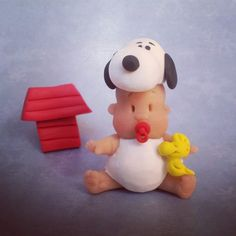 Baby dressed as Snoopy