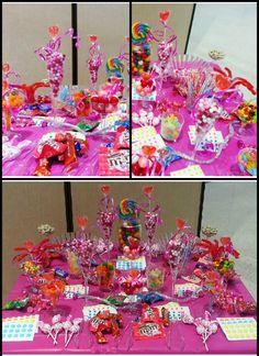 Small girls birthday candy buffet