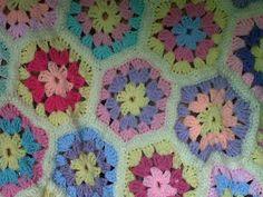 flower crochet blanket or thow