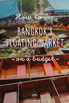 One of the first places that comes to mind in Thailand and Bangkok is the Floating Market. Floating markets are becoming a much more popular place with long promotions made in travel programs and f… Bangkok Travel, Thailand Travel, Asia Travel, Laos Travel, Thailand Vacation, Croatia Travel, Nightlife Travel, Beach Travel, Hawaii Travel