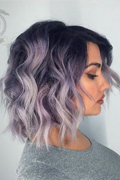 Our feature page celebrates edgy, beautiful hair, makeup and nail art. Lavender Hair, Lilac Hair, Hair Color Purple, Ombre Hair, Edgy Hair Colors, Purple Wig, Purple Ombre, Hair Dye, Purple Grey