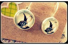 Rabbit earrings by Honey Song