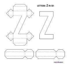 3d Templates, Alphabet Templates, Alphabet Stencils, Tag Alphabet, Hand Lettering Alphabet, Diy Letters, Letter A Crafts, Letter Standee, Plaster Crafts