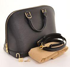 Louis Vuitton Black Epi Alma With Strap