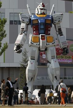 full size Gundam outside the Diver City mall in Odaiba, Tokyo.
