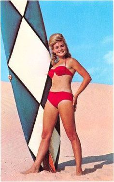 Vintage Surfer girl-notice how they didnt use wetsuites back then hhhmmmm interesting right??--