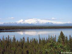 Mount Wrangell volcano, Alaska, USA