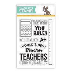 Simon Says Clear Stamps HEY TEACHER sss101419 Teacher's Pet