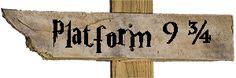 Platform 9 3/4 sign | Harry Potter | Neverwhere Signs