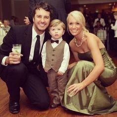 Luke Bryan and his family