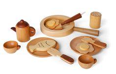 // wooden chef set