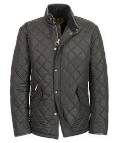 3c43c0a12ea14b Mens Barbour Powell Quilted Jacket - Black Barbour Quilted Jacket
