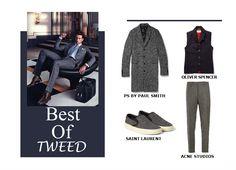 Fashion Men Fall 2014 #fall #2014 #men #fashion #tweed #shoes #paul #smith #oliver #spencer #saint #laurent #acne #studios
