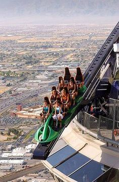 LasVegas's Stratosphere Roller Coaster. Glad I did this but was scary!