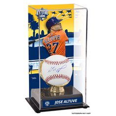 Jose Altuve Houston Astros Fanatics Authentic Autographed Baseball and 2016 MLB All-Star Game Sublimated Display Case with Gold Glove Holder - $179.99