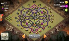Clash of clans base that I attacked during clan wars