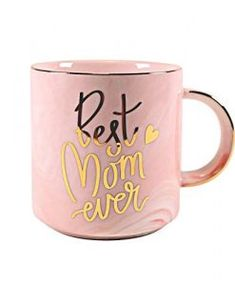 Vilight Moms Mug Christmas Gifts for Mother from Daughter and Son - Best Mom Ever Pink Marble Ceramic Coffee Cup Best Dad Gifts, Cool Gifts, Gifts For Dad, Cute Presents, Presents For Her, Ceramic Coffee Cups, Coffee Mugs, Mother Gifts, Mothers