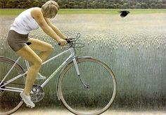 Alex Colville. Cyclist and Crow 1981