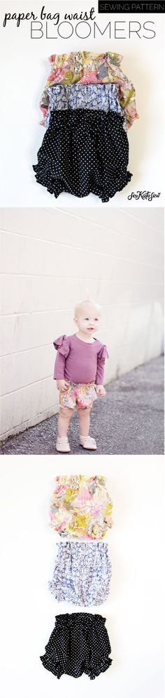 DIY PAPER BAG WAIST BABY BLOOMERS - Free Pattern!   diy kids clothing   kids clothing diy   baby clothing ideas   diy baby clothing   how to sew baby bloomers   diy baby bloomers   sewing tutorials   free sewing patterns   sewing tips and tricks    See Kate Sew #freesewingpatterns