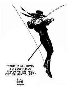 Zorro by Alex Toth. Dig it.