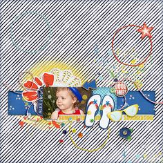 Summertime Alex 2006 by iowan , scrapbook layout with 1 photo