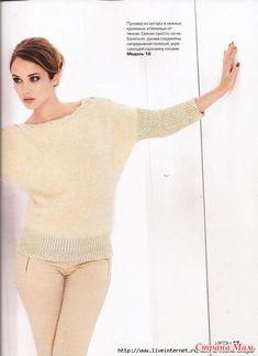 Интересные свитеры, кофты, пуловеры (спицы)