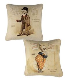 Loving this Calendar Skeleton Pillow - Set of Two on #zulily! #zulilyfinds