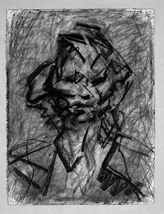 Frank Auerbach Frank Auerbach, Sketchbook Drawings, Cool Drawings, Sketches, Leon Kossoff, David Bomberg, Charcoal Art, Purple Art, Sculpture