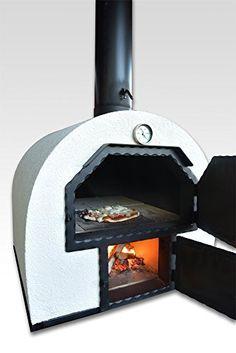 acerto 40239 Pizzaofen Brotbackofen 2 Kammern - Outdoorofen Holzbackofen Flammkuchenofen Gartenofen