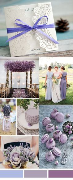Plum lavender and lilac shades of purple romantic rustic wedding perfect 7 laser cut wedding invitations to match your wedding colors junglespirit Choice Image