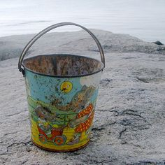 Whimsical Vintage Sand Pail