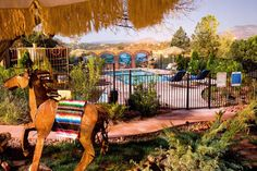 A Sunset Chateau (665 South Sunset Drive) Located in Sedona, Arizona, this bed and breakfast features an outdoor pool and hot tub as well as an on-site tennis court. A full breakfast and free Wi-Fi access are available. #bestworldhotels #hotel #hotels #travel #us #arizona