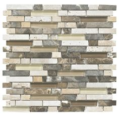 Colours Single Emperador Stone & Glass Offset Mix Mosaic Wall Tile x 5397007009361 Mosaic Wall Tiles, Mosaic Glass, Adhesive Tiles, Bathroom Wall, Mosaic Bathroom, Family Bathroom, Bathroom Ideas, Wall Finishes