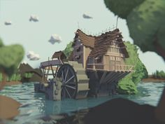 Low poly swamp on Behance