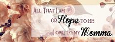 Mother's Day Quote - Facebook Cover Photo
