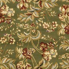 Lyndhurst Collection Floral Sage Rug (9' x 12')