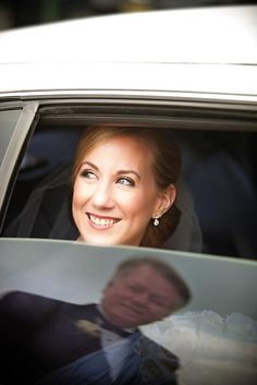 The bride and her dad before she drives away! :)