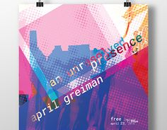 """Check out new work on my @Behance portfolio: """"April Greiman Lecture Poster"""" http://be.net/gallery/37883961/April-Greiman-Lecture-Poster"""