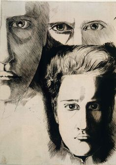 "huariqueje: "" Self Portrait - Klemens Brosch , 1911 Austrian, Indian ink on paper "" Klimt, Museum, Contemporary Art, Ink, Drawings, Prints, Paper, Indian, Art"