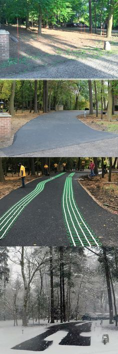 8 best driveway images on pinterest driveway entrance driveway heated driveway install transformation with electric radiant heating by warmlyyours solutioingenieria Choice Image