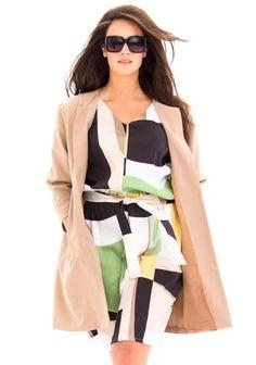 Mekko (XL-malli) SK 08/2014. Duster Coat, Sewing, Fabric, Pants, Jackets, Dresses, Wax, African, Fashion
