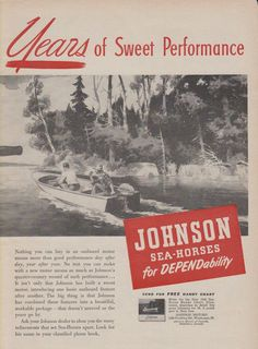 35 best vintage johnson outboard motor ads images on pinterest 2 page 1948 johnson outboard motor ad fandeluxe Image collections
