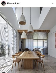 Home Projects, Beach House, Dining Table, Ceiling Lights, Architecture, Interior, St Andrews, Furniture, Tables